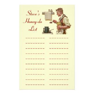 Papelaria a tarefa da lista Mel-dos alista artigos de