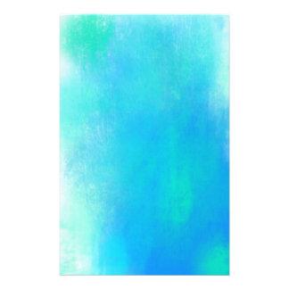 Papelaria Abstrato bonito da aguarela no verde e no azul do