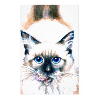 Papelaria Aguarela do gato Siamese
