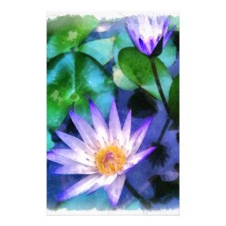 Papelaria Aguarela roxa de Lotus