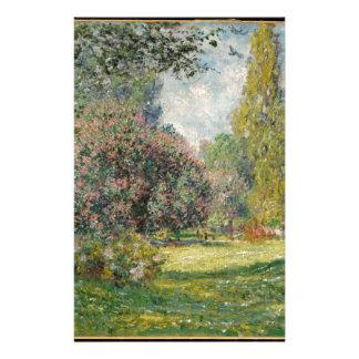 Papelaria Ajardine o Parc Monceau - Claude Monet