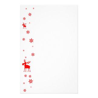 Papelaria Alces vermelhos e cabeçalho vermelho dos artigos