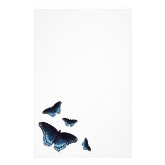 Papelaria Almirante Azul escuro Borboleta Pintura
