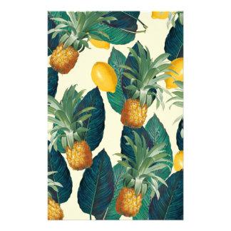 Papelaria amarelo dos limões do abacaxi