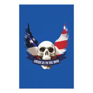 Papelaria Americano ao crânio do osso