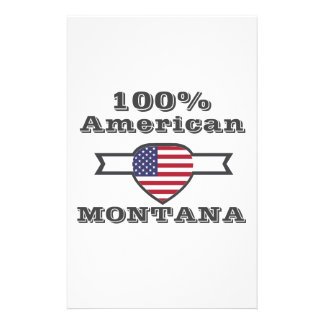 Papelaria Americano de 100%, Montana
