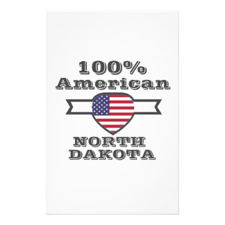 Papelaria Americano de 100%, North Dakota