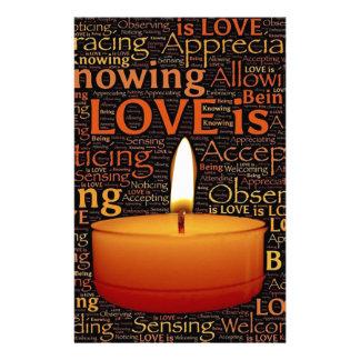 Papelaria Amor, citações da vela