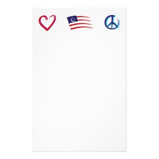 Papelaria Amor da esperança da paz