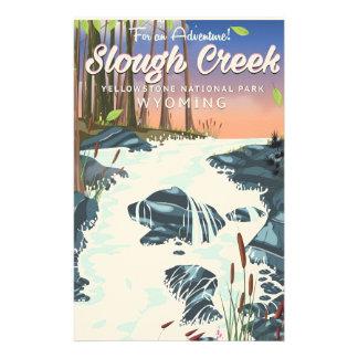 Papelaria Angra de Slough, parque nacional de Yellowstone