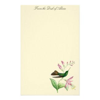 Papelaria Animais florais dos animais selvagens das flores