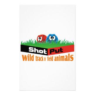 Papelaria Animais selvagens do atletismo