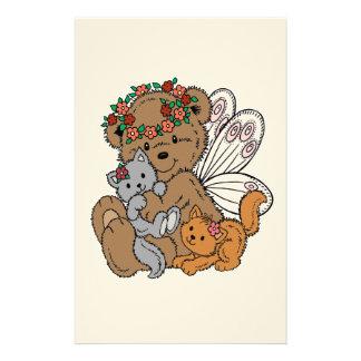 Papelaria Anjo do urso com gatinhos
