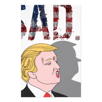 Papelaria Anti presidente sarcástico engraçado Donald Trump