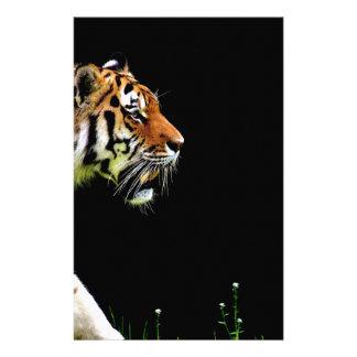 Papelaria Aproximação do tigre - trabalhos de arte do animal