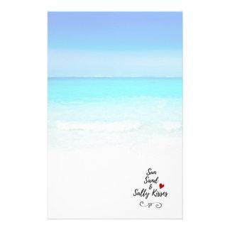 Papelaria Areia de Sun e praia tropical dos beijos salgados
