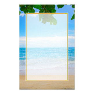 Papelaria Areia e mar tropicais de Sun da praia