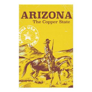 Papelaria Arizona o poster de cobre das viagens vintage do