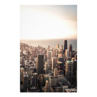 Papelaria Arquitectura da cidade de Chicago