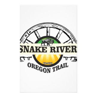 Papelaria arte amarela do rio Snake
