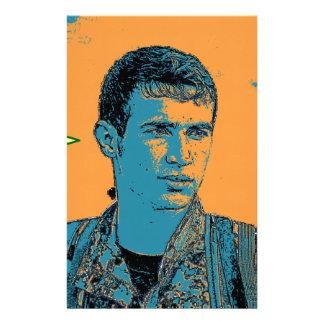Papelaria Arte curdo 3 do lutador de YPG