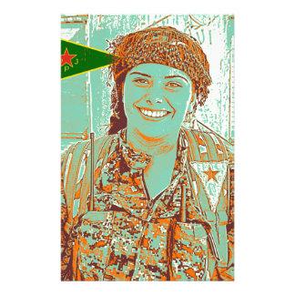 Papelaria Arte curdo do lutador 2 de YPJ