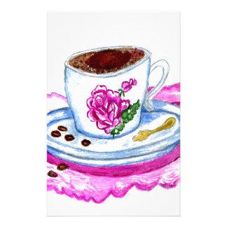 Papelaria Arte da chávena de café