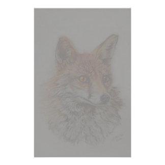 Papelaria arte da raposa vermelha