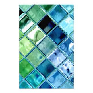 Papelaria Arte de vidro do azulejo de mosaico da cerceta do