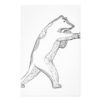 Papelaria Arte do Doodle do encaixotamento do urso de urso