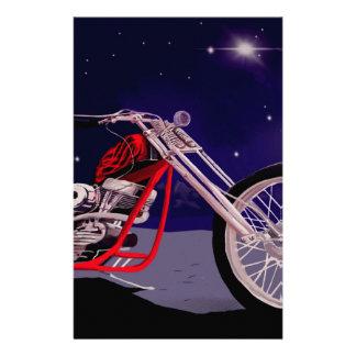 Papelaria Arte do luar da motocicleta