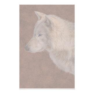 Papelaria Arte dos animais selvagens do retrato do lobo