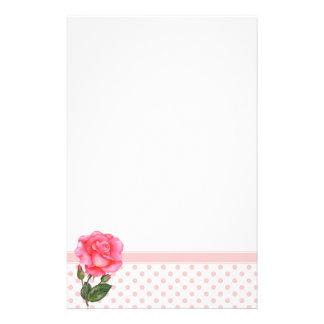 Papelaria Arte floral do rosa feito sob encomenda do rosa