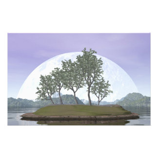 Papelaria Árvore com folhas lisa dos bonsais do olmo - 3D