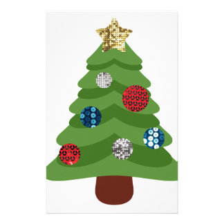 Papelaria árvore de Natal do emoji