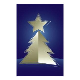 Papelaria Árvore de Natal dourada