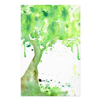 Papelaria Árvore do primavera do abstrato da aguarela,