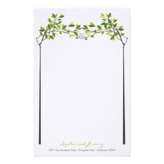 Papelaria Árvores de amor atadas verão que Wedding artigos