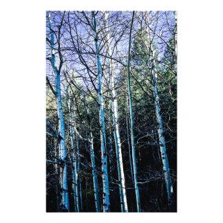Papelaria Árvores de Aspen na queda
