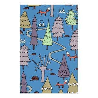 Papelaria árvores do inverno