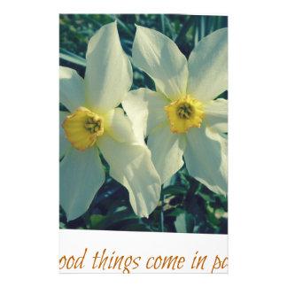 Papelaria as boas coisas vêm em pares