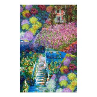 Papelaria As flores no jardim de Monet são originais