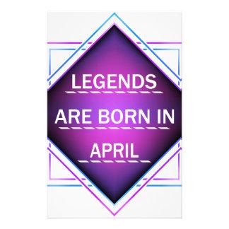 Papelaria As legendas são nascidas em abril