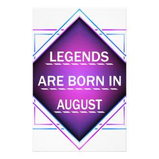 Papelaria As legendas são nascidas em agosto