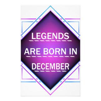 Papelaria As legendas são nascidas em dezembro