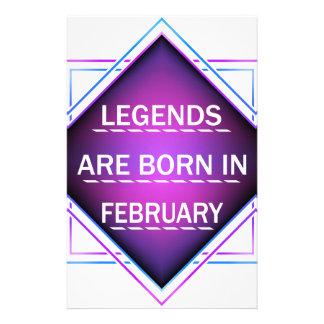 Papelaria As legendas são nascidas em fevereiro