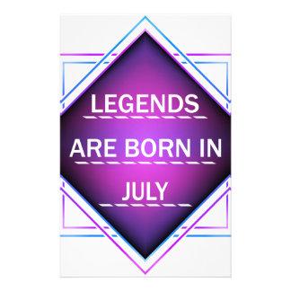 Papelaria As legendas são nascidas em julho