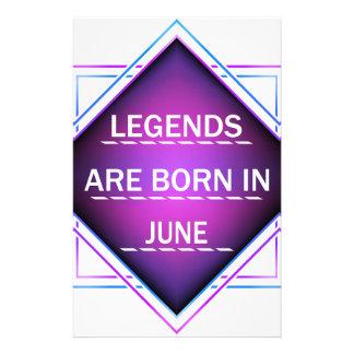 Papelaria As legendas são nascidas em junho