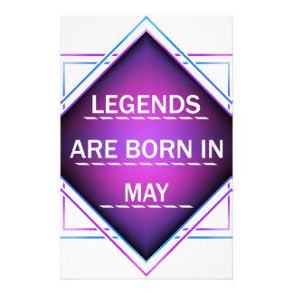 Papelaria As legendas são nascidas em maio