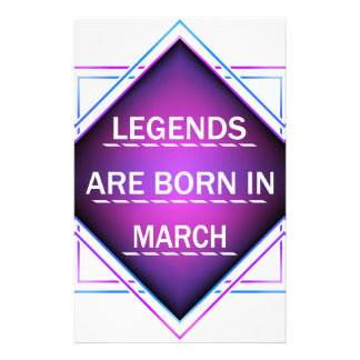 Papelaria As legendas são nascidas em março